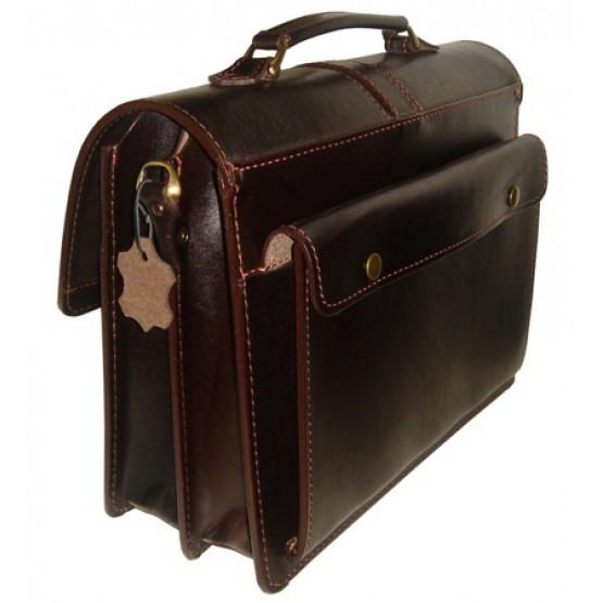 Кожаный портфель LEO-002