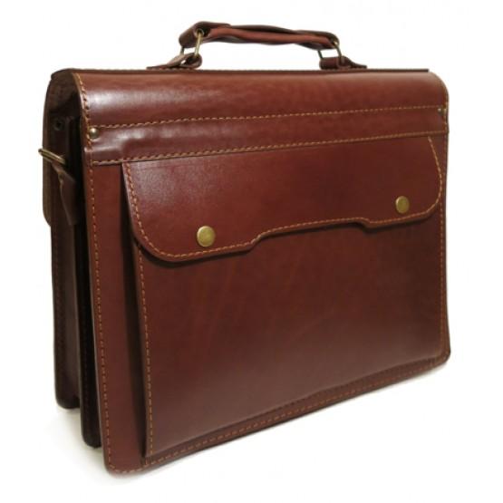Кожаный портфель LEO-042