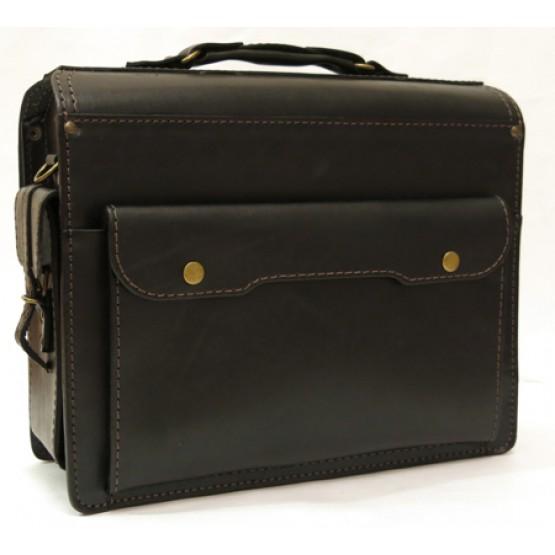 Кожаный портфель LEO-041
