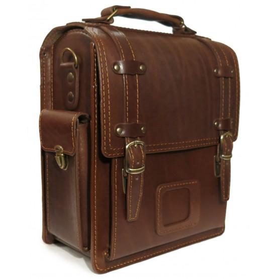 Кожаный портфель LEO-016