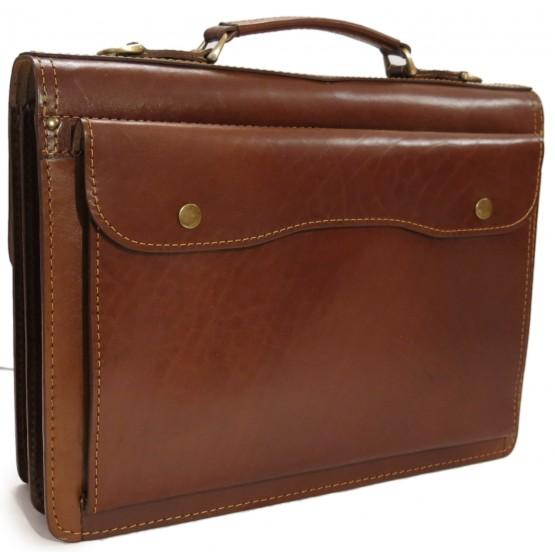 Кожаный портфель LEO-030