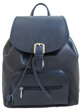 """Кожаный рюкзак """"Лозанна"""" Ren16-03 синий"""