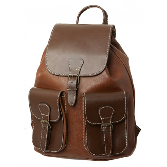"""Кожаный рюкзак """"Классик-2"""""""
