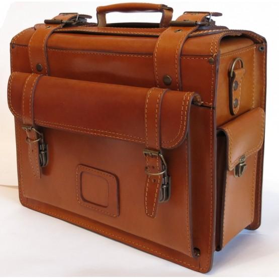 Портфель-сумка LEO-025 коричневый