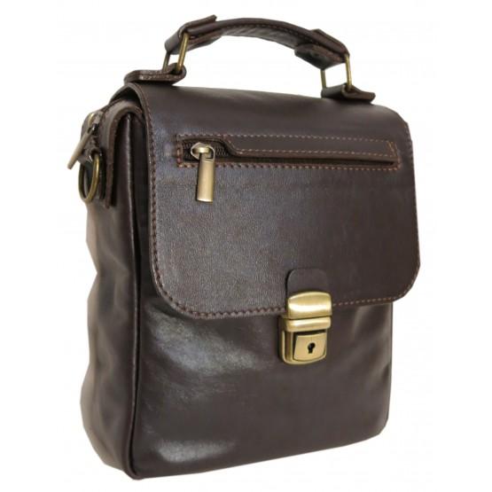 "Мужская сумка ""Марк"" (тёмно-коричневая)"