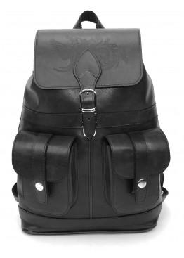 Кожаный рюкзак «Черный лебедь» черный