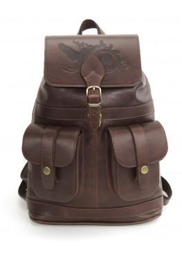 Кожаный рюкзак «Ваниль» коричневый