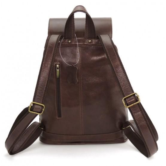 Кожаный рюкзак «Ваниль» (коричневый)