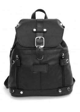 Кожаный рюкзак «Виталия» чёрный