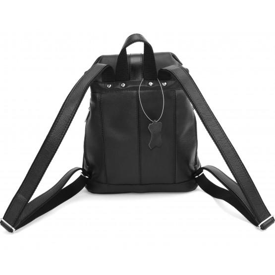Кожаный рюкзак «Виталия» (чёрный)