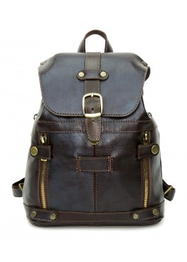 Кожаный рюкзак «Алия» коричневый