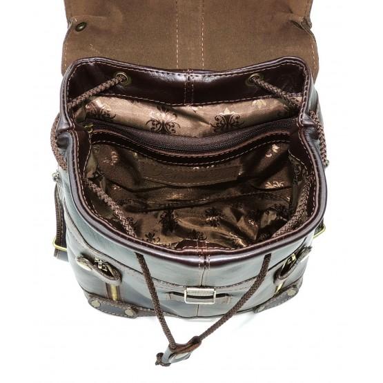 Кожаный рюкзак «Алия» (коричневый)