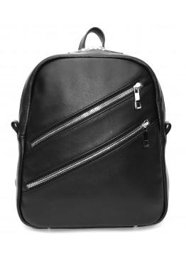 Кожаный рюкзак «Альмира» чёрный