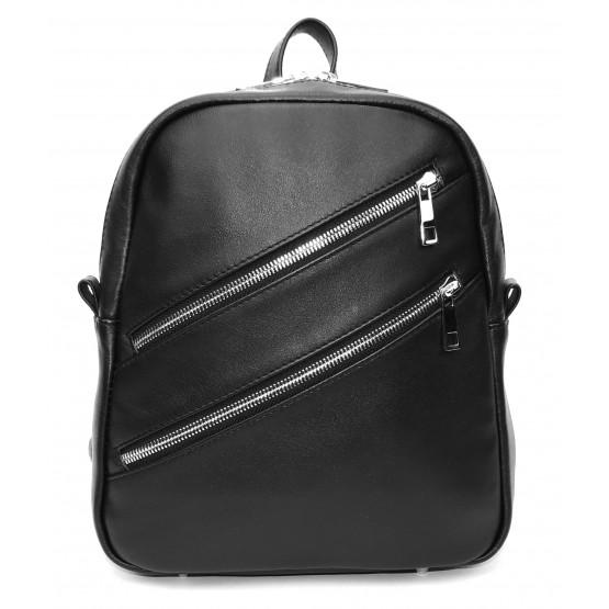Кожаный рюкзак «Альмира» (чёрный)