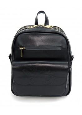 Кожаный рюкзак «Таира» чёрный