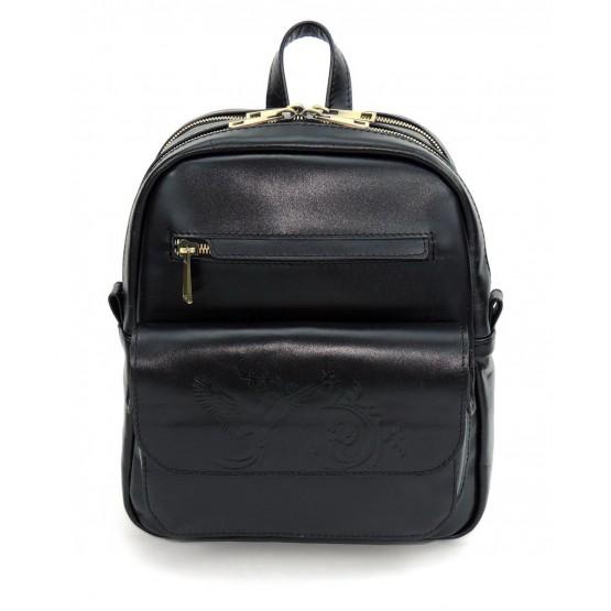 Кожаный рюкзак «Таира» (чёрный)
