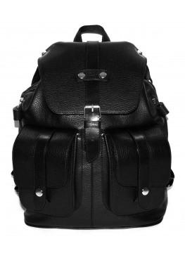 Кожаный рюкзак «Эверест» чёрный