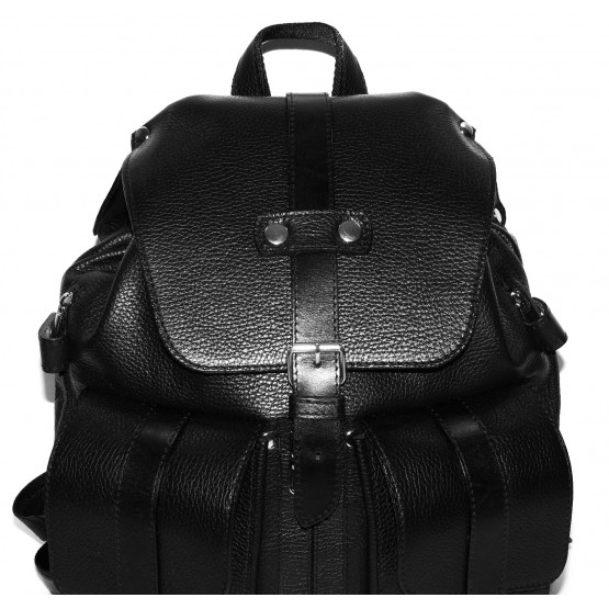 Кожаный рюкзак «Эверест» (чёрный)