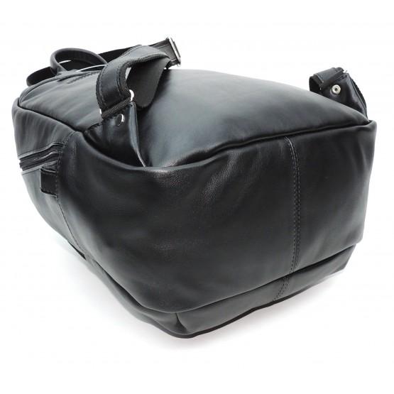 """Рюкзак кожаный  """"Мевис"""" (чёрный)"""