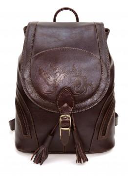 Кожаный рюкзак «Беатрис» коричневый