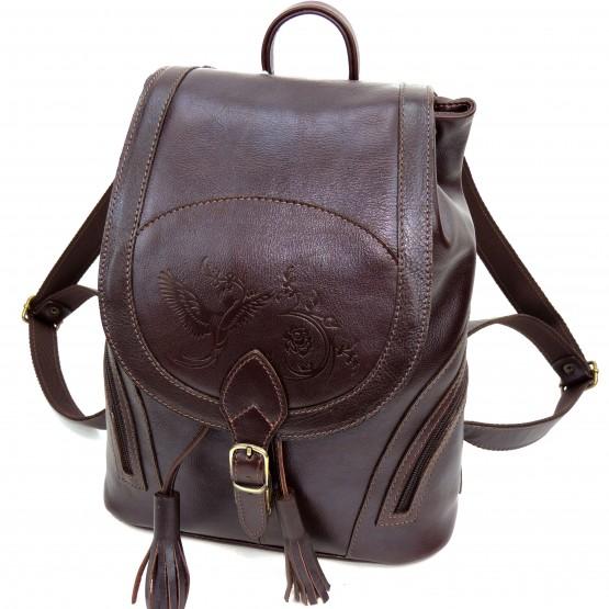 Кожаный рюкзак «Беатрис» (коричневый)