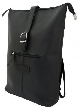 Кожаная сумка-рюкзак «Саламандра» чёрная