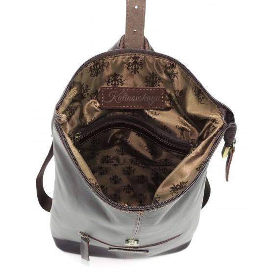 Кожаная сумка-рюкзак  «Саламандра» (коричневая)