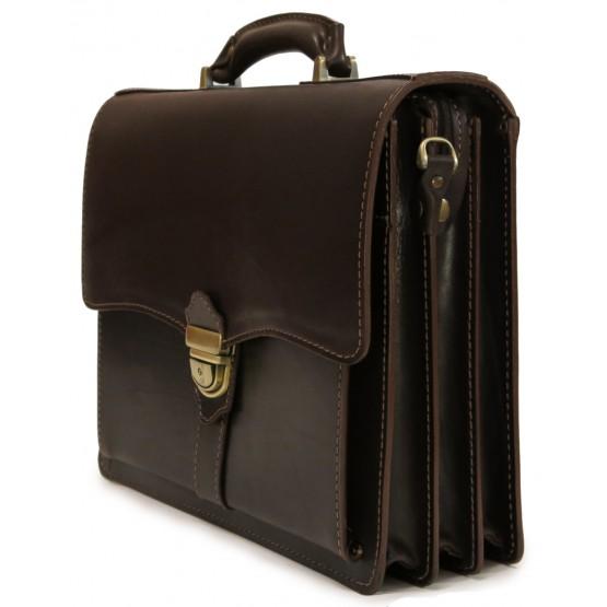 Кожаный портфель LEO-003