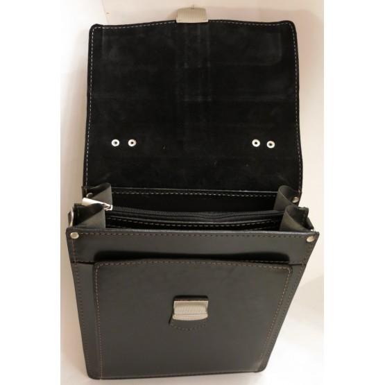 Портфель LEO-007 А4 (чёрный)