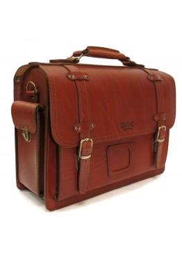 Портфель кожаный LEO-012 коричневый