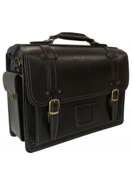 Портфель кожаный LEO-012 чёрный