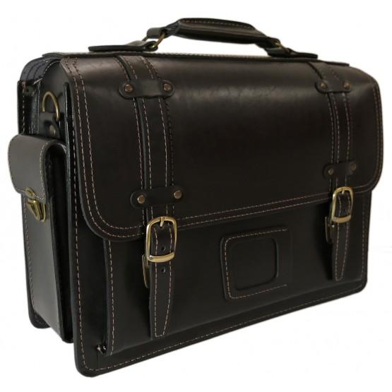 Портфель кожаный LEO-012 (чёрный)