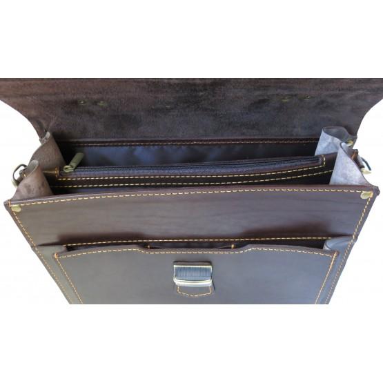 Портфель LEO-043 (тёмно коричневый)
