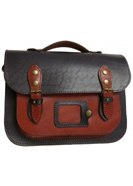 Портфель Leo 045  Cambridge Satchel рыже-синий