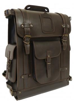 Leo-5 Ранец кожаный  «Связист» коричневый