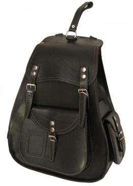 Leo-7  Рюкзак кожаный « Харлей» чёрный
