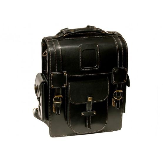 Leo-9  Ранец  кожаный «Геркулес» (чёрный)