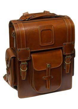 Leo-9  Ранец  кожаный «Геркулес» коричневый