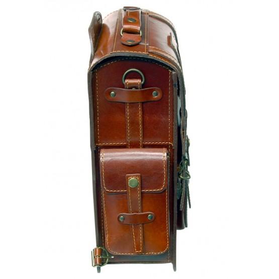 Leo-9  Ранец  кожаный «Геркулес» (коричневый)