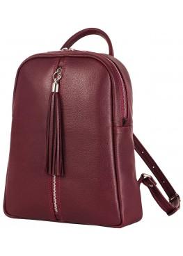 """Кожаный рюкзак """"Севилья"""" Ren 16-10 бордовый"""